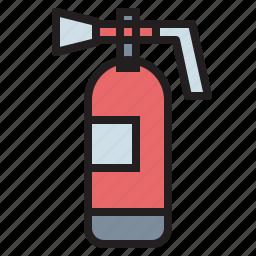 emergency, extinguisher, fire, firefighting, safety icon