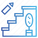 ascend, floor, stairs, steps icon