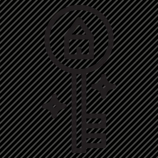 access, door, key, passkey icon