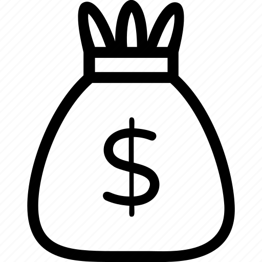 currency, dollar, finance, money, money sack icon