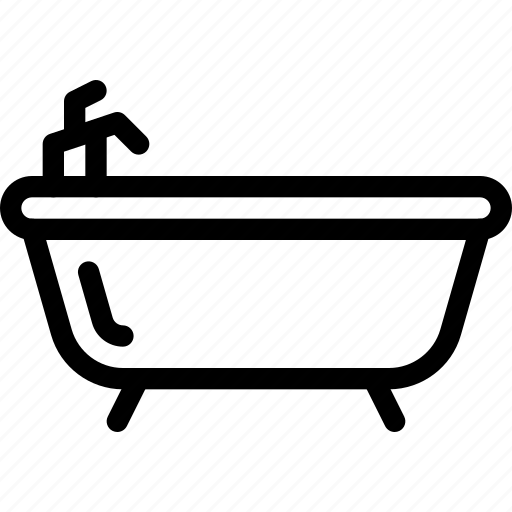 bathing, bathtub, hotel, service, tub icon