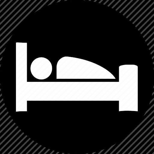 acomodation, bedroom, furniture, hotel, service, sleep icon