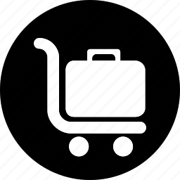 boxes, carry, hotel, load, service, trolly icon, vacation icon