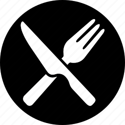 fork, hotel, kitchen, knife, service, spoon, trip icon