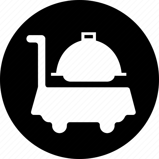 hotel, room, room service, service, serving, waiter icon icon