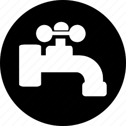 acomodation, hand, hotel, service, tap, vacation, water icon icon