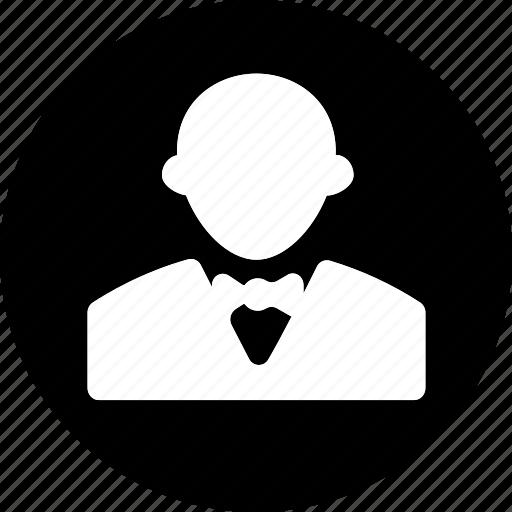 hotel, hotel service, person, referee, room service, umpire, waiter icon icon