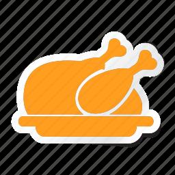 chicken, fried, hotel, meat, roast, roasted, turkey icon icon