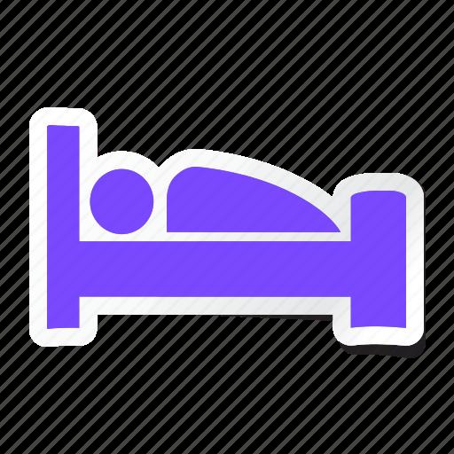 acomodation, bed, bedroom, furniture, hotel, service, sleep icon