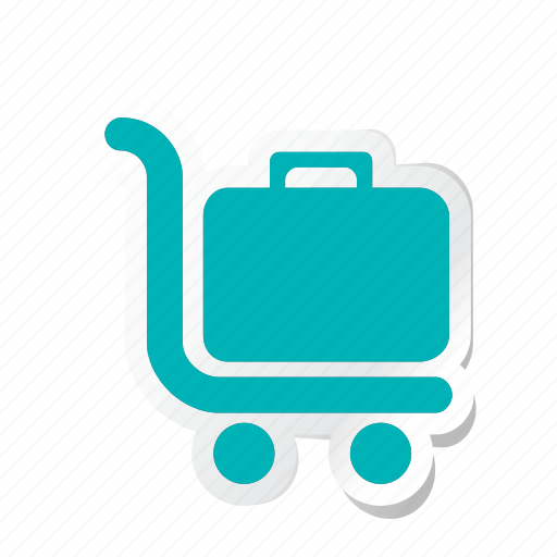 boxes, carry, hotel, load, service, trolly icon icon