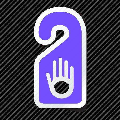 door hanger, door label, hanger knob, hotel, privacy, room, service icon