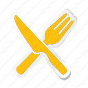 acomodation, fork, hotel, kitchen, knife, service, spoon icon