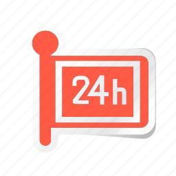 24, 24 hours, acomodation, hotel, room, service, trip icon