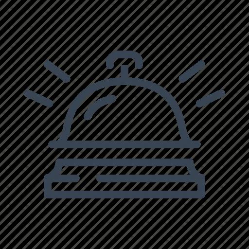 bell, hotel, reception, service icon