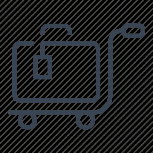hotel, luggage, room, service icon