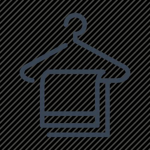 bathroom, hanger, hotel, towel icon
