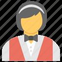 butler, female server, occupation, serving, waitress