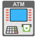 atm machine, bank, credit, money transfer, transaction icon
