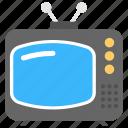 antenna, idiot box, television, transmission, vintage icon