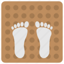 carpet, decorative mat, doormat, feet on mat, welcome mat icon