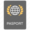 identity card, travelling by air, international passport, international travel, passport icon
