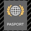 identity card, international passport, international travel, passport, travelling by air icon