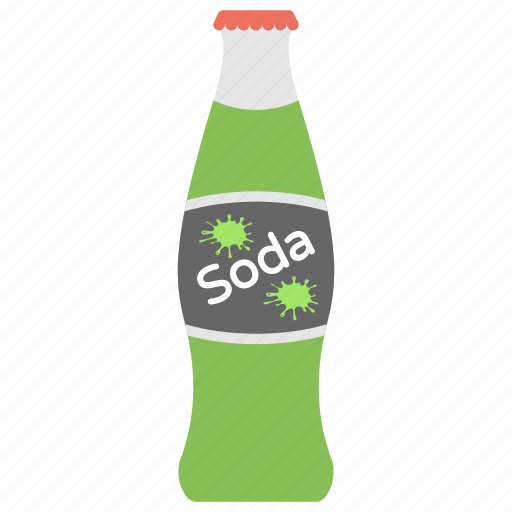 bottle of soda, cold drink, fizzy drink, fruit pulp, soft drink icon