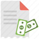 bill, check, invoice, money, receipt icon