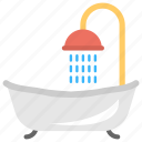 bathroom, bathtub, luxurious bath, relaxing shower, shower icon
