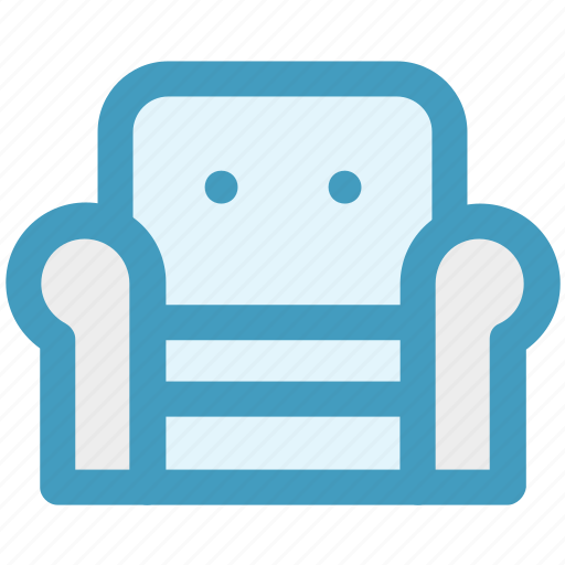Armchair, furniture, recliner, seat sofa, settee, sofa icon - Download on Iconfinder