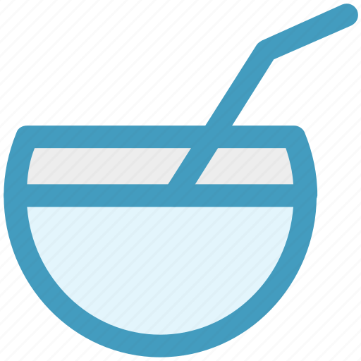 Bowl, coconut, coconut juice, drink, food, juice icon - Download on Iconfinder