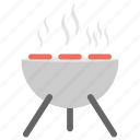 bbq grill, cooking grill, grilling food, simmering, smoke icon