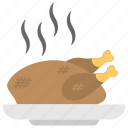 expensive meal, fresh meal, roasted turkey, simmering meat, smoked chicken icon