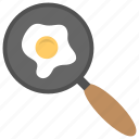 breakfast, cooking food, fried egg, frying egg, frying pan icon