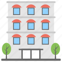 building, hotel building, luxurious hotel, restaurant building, skyscraper icon