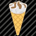 ice cream, ice cream cone, icing treat, kids treat, snack icon
