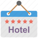five star hotel, hotel reservation, hotel sign board, signboard, signpost icon