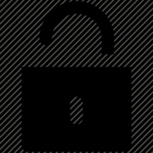 access, open, padlock, password, unlock, unlocked padlock icon