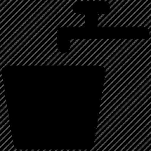 bucket, faucet, nal, tap, water bucket, water faucet, water pail, water tap icon