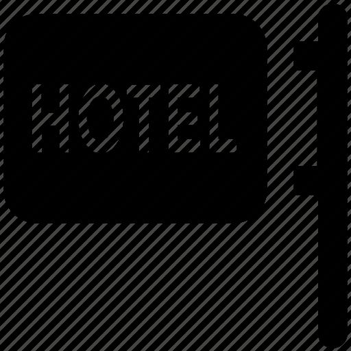 hanging board, hotel board, info board, signboard icon