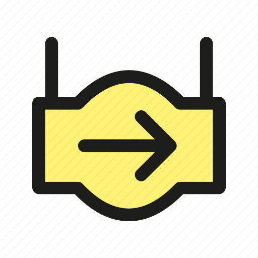arrow, hanger, pointer, right, sign icon