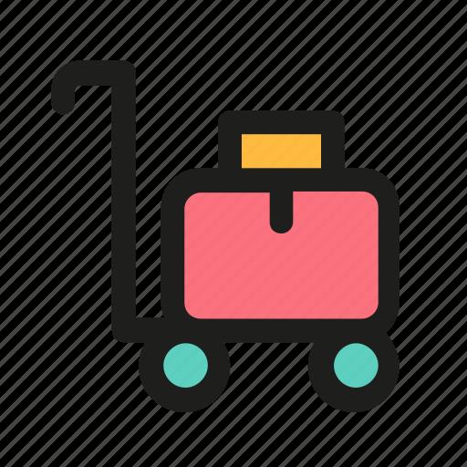 baggage, cart, luggage, transportation, truck icon