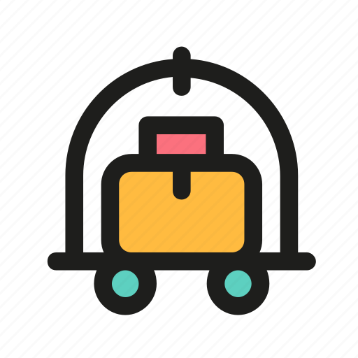 baggage, cart, luggage, transportation, truck icon