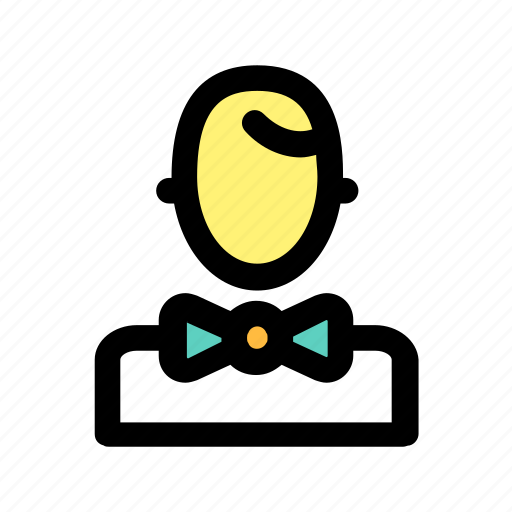 contact, hostes, man, staff, user, waiter icon