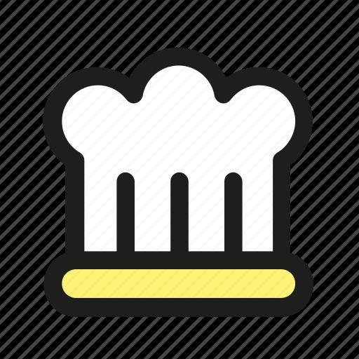 cap, chef, cook, hat, restaurant icon