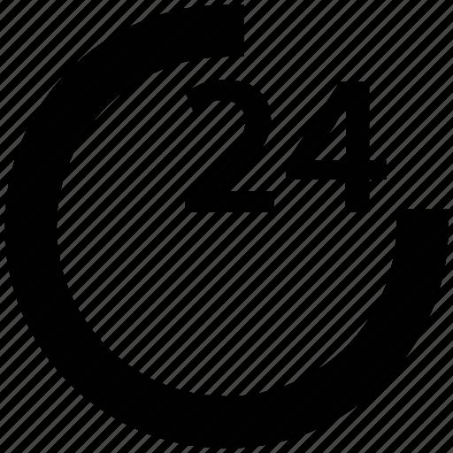 hotel, restaurant, service, twenty hours service icon