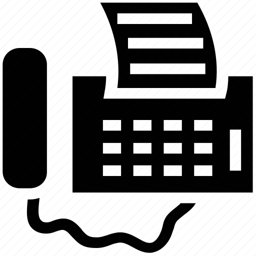 fax, fax machine, machine, printer, telegram icon
