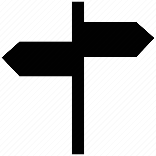 arrows, directions, location, sign board, signpost icon