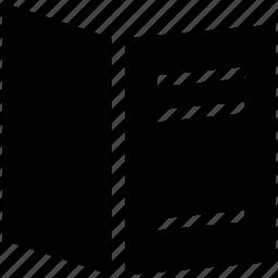 bill of fair, carte du jour, menu book, menu card icon