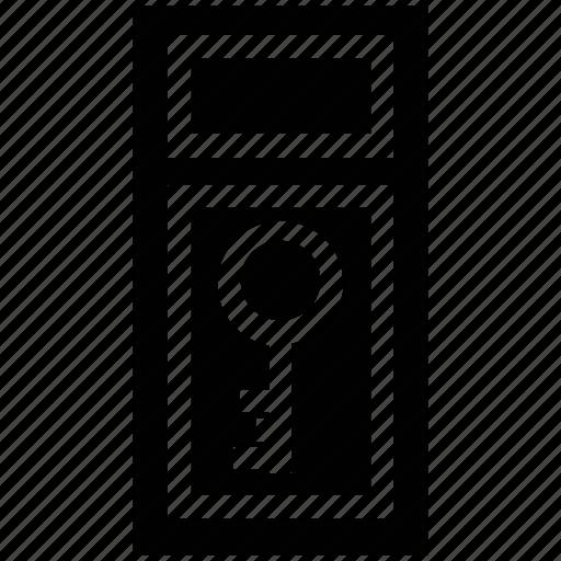 door key, key, passkey, safe, secure icon